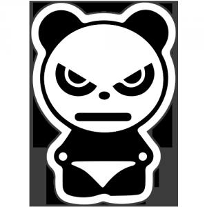 Autocolant Panda suparat