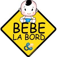 Autocolant auto Bebe la bord baietel
