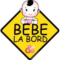 Autocolant auto Bebe la bord fetita