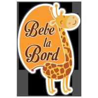 Autocolant Bebe la bord girafa