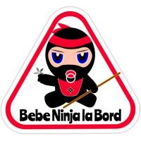 Autocolant auto Bebe Ninja la bord