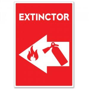Autocolant Extinctor (in caz de incendiu)
