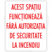 Autocolant Autorizatia de securitate