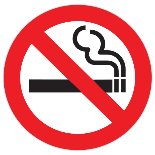 Autocolant Interzis fumatul