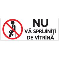 Autocolant Nu va sprijiniti de vitrina