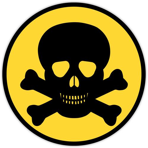 Autocolant Pericol de moarte