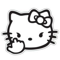 Autocolant Bad Kitty