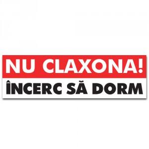 Sticker auto Nu claxona