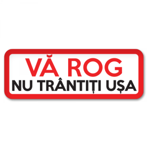 Sticker Nu trantiti usa