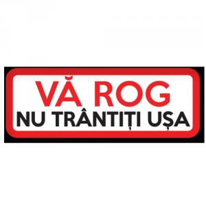 Sticker Nu trantiti usa