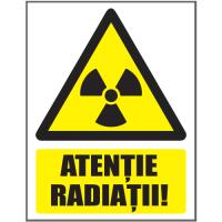 Autocolant Atentie radiatii