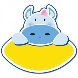 Autocolant Hipopotam personalizabil