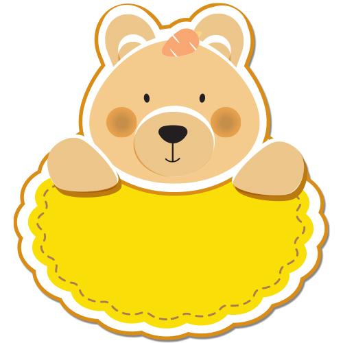 Autocolant Ursulet personalizabil