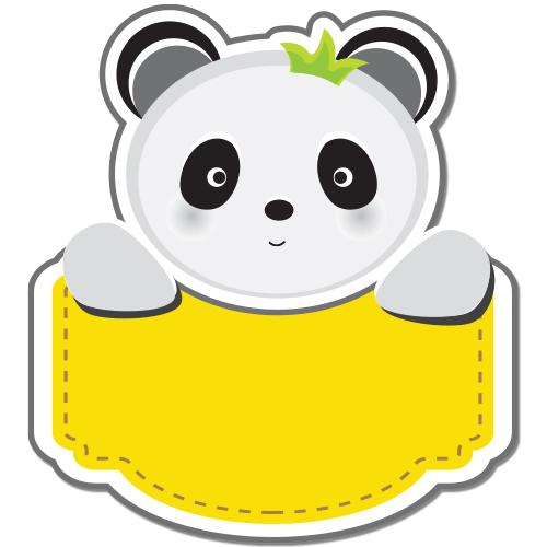 Autocolant Ursulet panda personalizabil