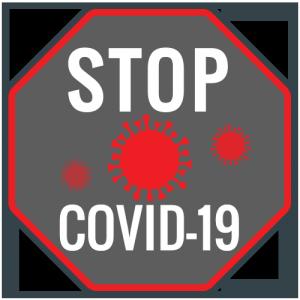 Autocolant Stop Covid-19