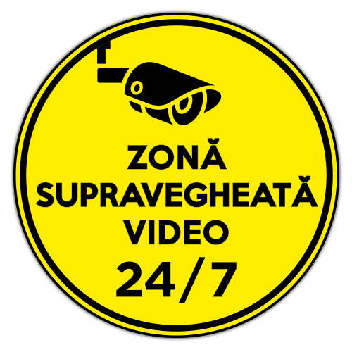 Autocolant Zona supravegheata video