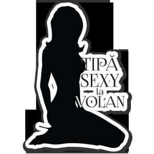 Sticker auto Tipa sexy la volan