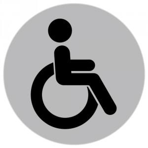 Autocolant Toaleta pentru persoane cu dizabilitati