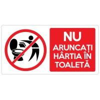 Autocolant Nu aruncati hartia in toaleta