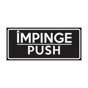 Autocolant Impinge - Push