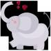Body bebe Elefant cu inimioare