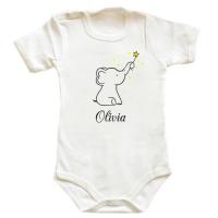 Body bebe Elefant cu stele