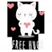 Body bebe Free Hugs pisica alba