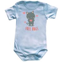 Body bebe Free Hugs pisica cafenie