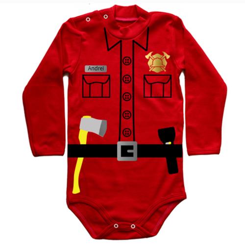 Bebe pompier personalizat