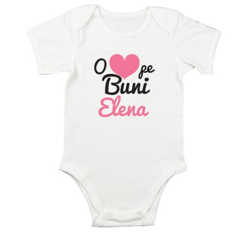 Body bebe O iubesc pe buni (cu numele ei)
