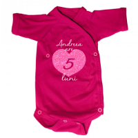 Body bebe personalizat cu Inimioara