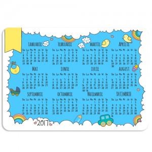 Calendar de buzunar bebe baietel