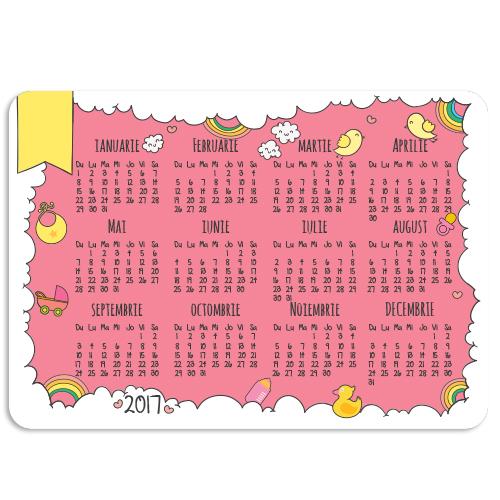 Calendar de buzunar bebe fetita