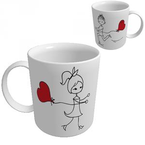 Cana Balon in forma de inima (pentru ea)
