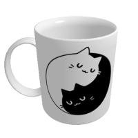 Cana Pisici Yin Yang