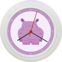 Ceas de perete Hipopotam mov
