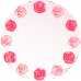 Ceas Trandafiri  personalizat