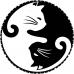 Ceas Yin Yang cu pisicute