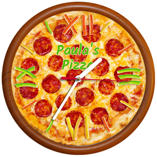 Ceas Pizza pepperoni personalizat