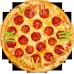 Ceas Pizza pepperoni personalizat
