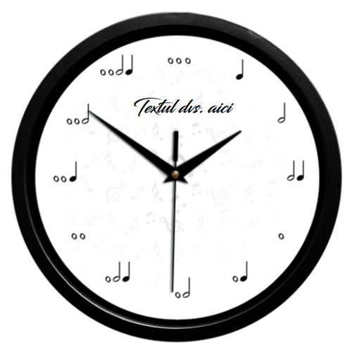 Ceas de perete Note muzicale