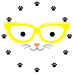 Ceas Pisica cu ochelari