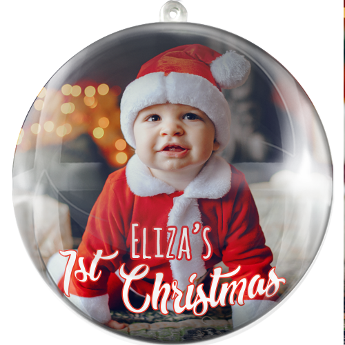 Glob personalizat First Christmas