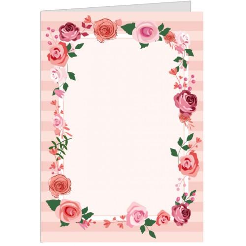 Felicitare rama de trandafiri