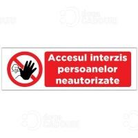 Autocolant Acces interzis