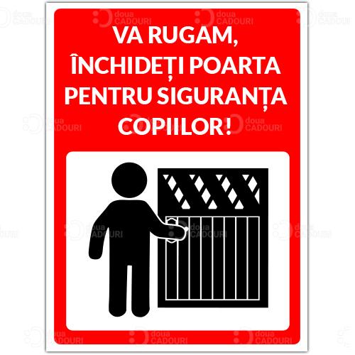 Indicator Inchideti poarta pentru siguranta copiilor