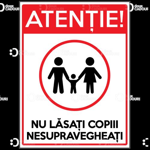 Autocolant Atentie Copii