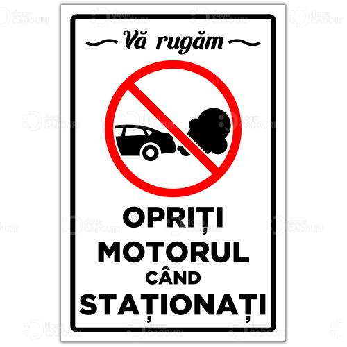 Autocolant Opriti motorul