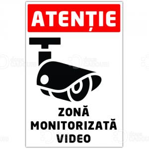 Autocolant Zona monitorizata video