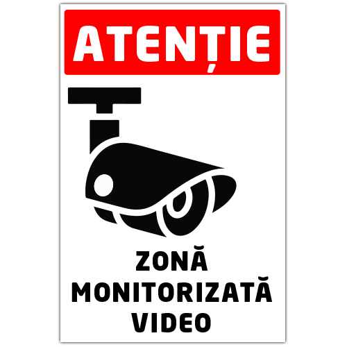 Autocolant Zona monitorizata video